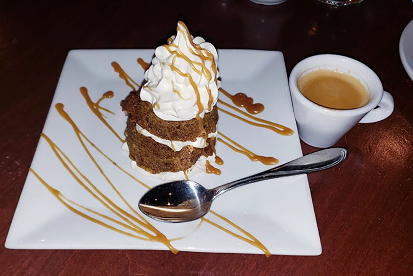 Martha's Carrot Cake at Veronica's Culinary Tavern in Altamont.