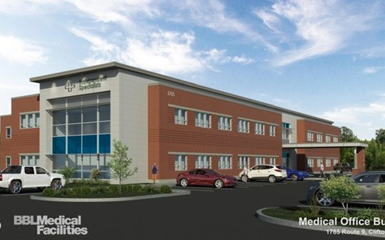 Architect's rendering of a proposed medical building for Route 9 in Clifton Park.