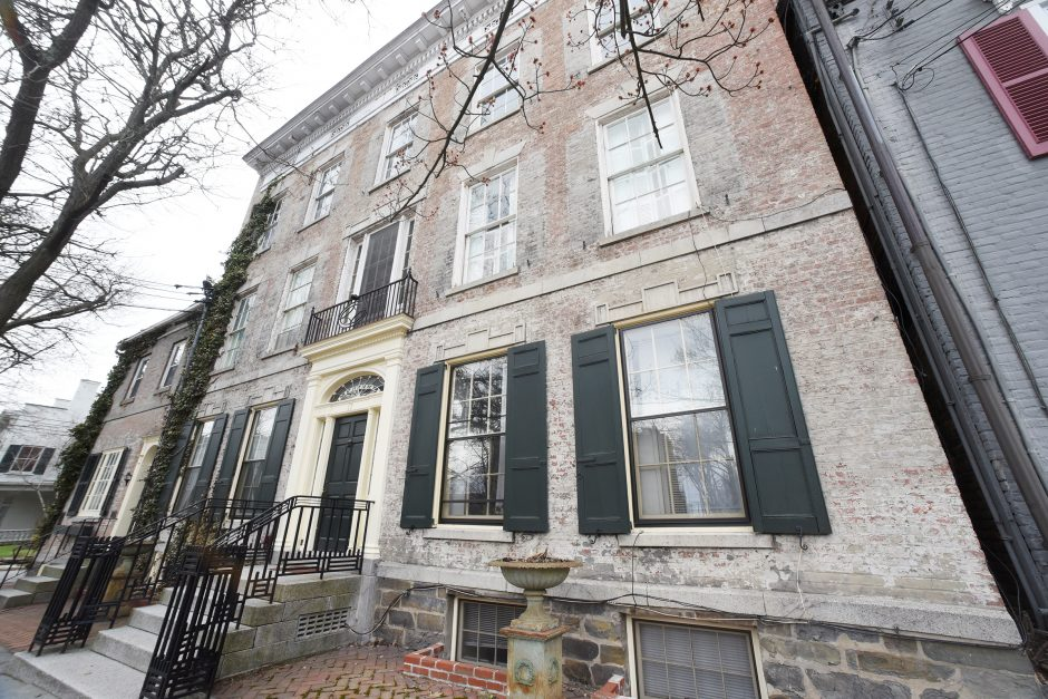 The Yates Mansion in the Schenectady's Stockade neighborhood, shown here on Thursday, is up for sale again.