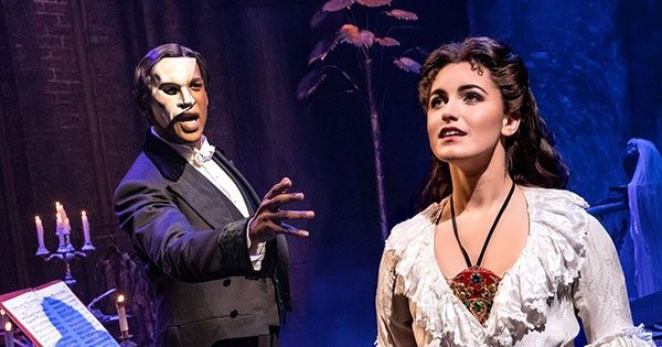 """Quentin Oliver Lee and Eva Tavares in """"Phantom of the Opera."""""""