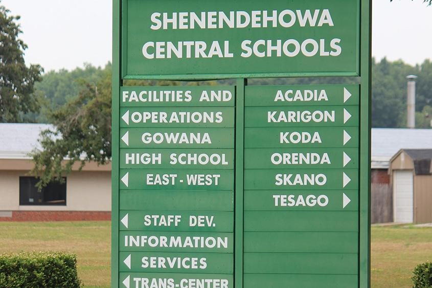 A sign at the entrance of the Shenendehowa campus is seen.