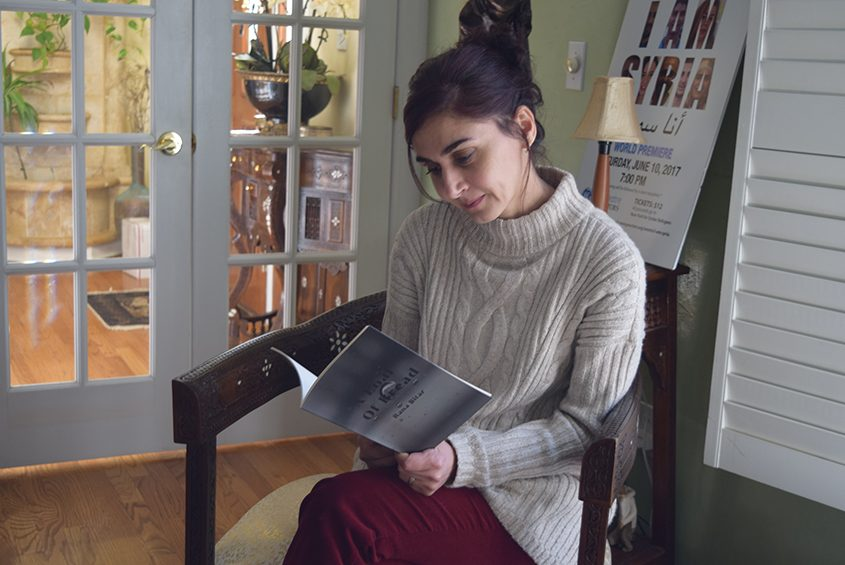 """Rana Bitar reads from her book of poetry, """"A Loaf of Bread,"""" at her Niskayuna home."""
