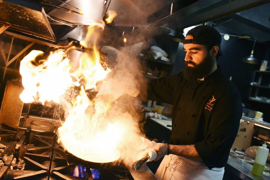 Chef Eric Randazzo, of Ballston Spa, prepares a Vongole dish at Forno Bistro in Saratoga Springs, April 19, 2019.
