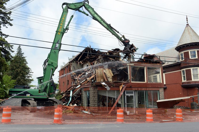 720 Crane St. is demolished in 2017. The Capital Region Land Bank was involved in the effort.