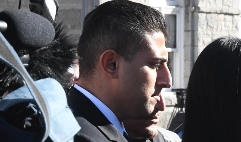 Nauman Hussain arrives at court earlier this month