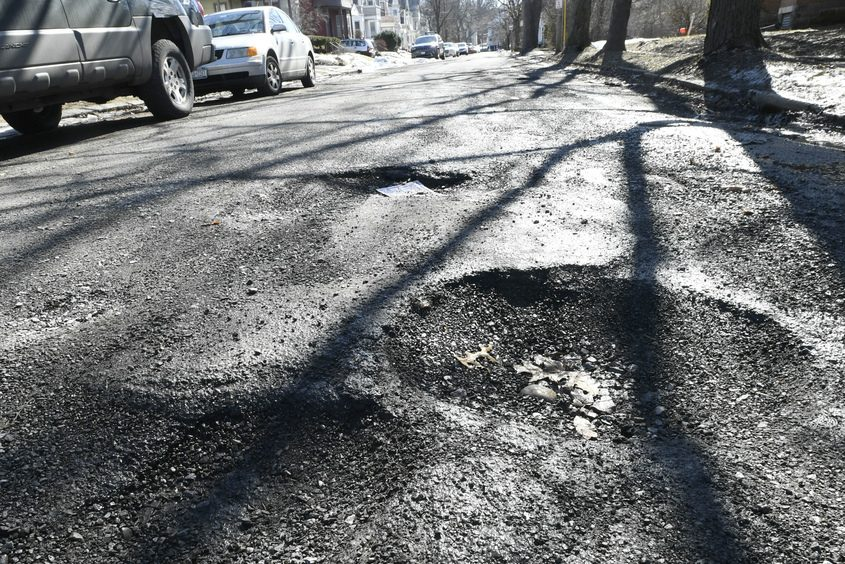 Gillespie Street in Schenectady was riddled with pot holes this winter and was catalogued on the Citizens Request Tracker.