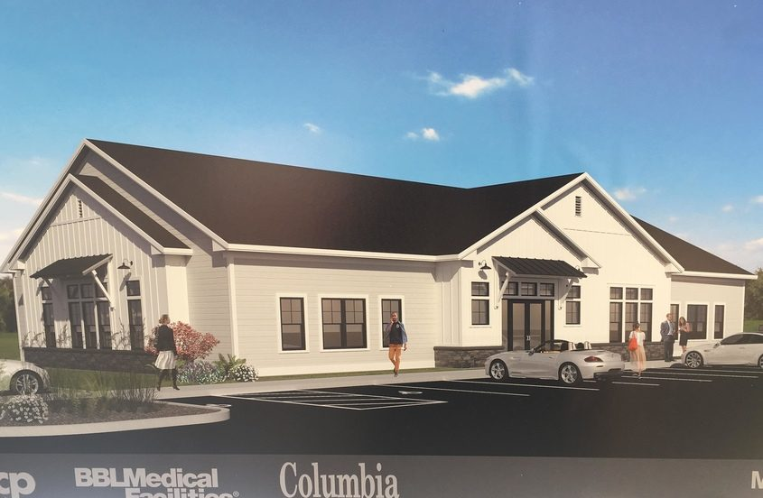 An artist's rendering of the future Albany Med medical complex on Route 146.