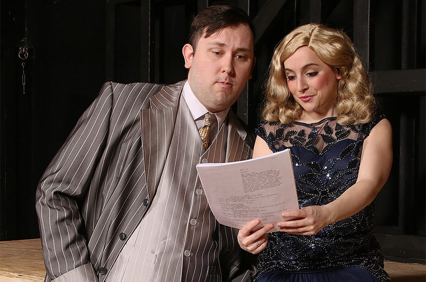 "Christine Meglino as Peggy Sawyer and James Alexander as Julian Marsh in SLOC's ""42nd Street."""