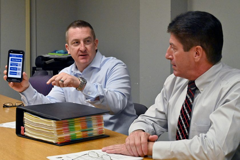 Chief Eric S. Clifford and Assistant Chief Michael J. Seber, discuss the new LexiPol application.