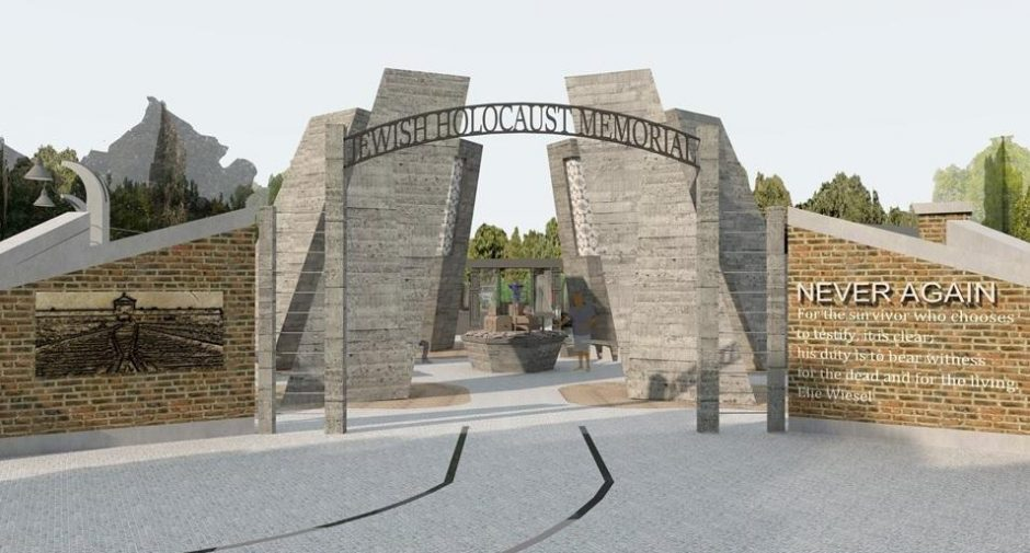 A rendering of a proposed Holocaust Memorial in Niskayuna.