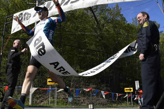 Schenectady County Bike-Paddle-Run Triathalon at the Aqueduct Road Rowing Club in Niskayuna, May 11, 2019.