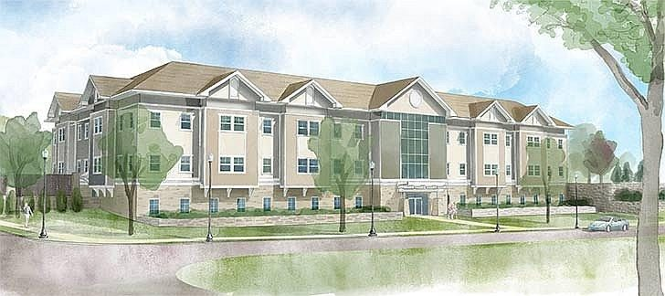 A rendering a the proposed medical building.