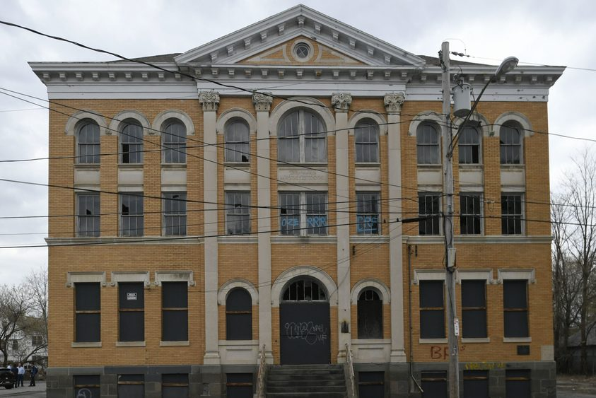 The former St. Mary's School on Irving Street in Schenectady will be renovated.