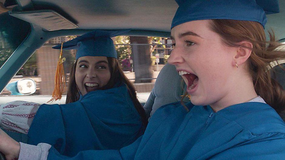 """Beanie Feldstein, left, and Kaitlyn Dever in 'Booksmart."""""""