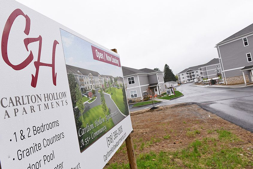 The Carlton Hollow Apartments complex is seen during construction in Ballston Spa on May 10, 2019.