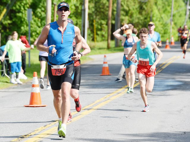 Ian Morrison of East Greenbush competes in the 15th annual Saratoga Lions Memorial Duathlon on Sunday, May 26, 2019.