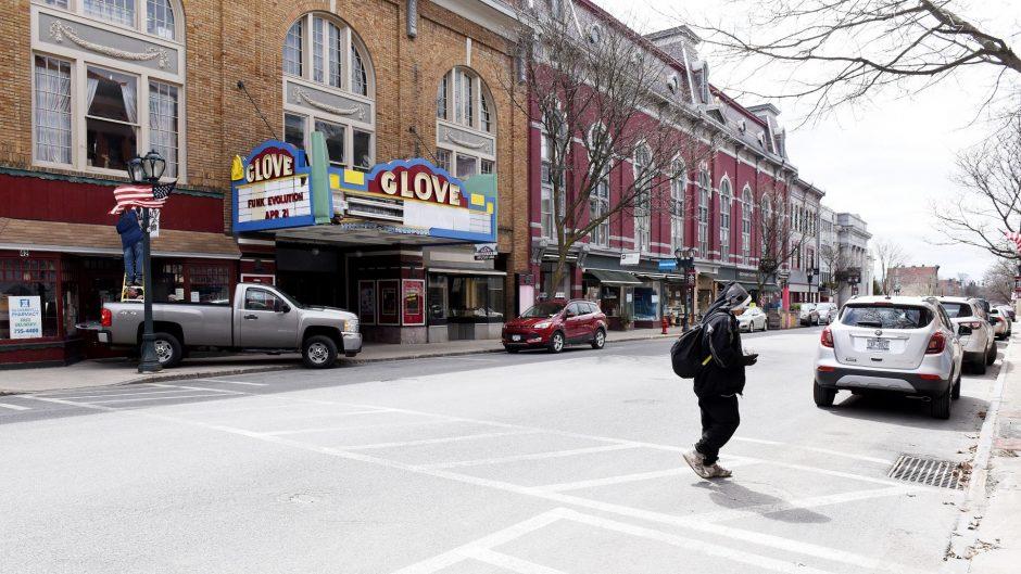 The Glove Theater in downtown Gloversville.