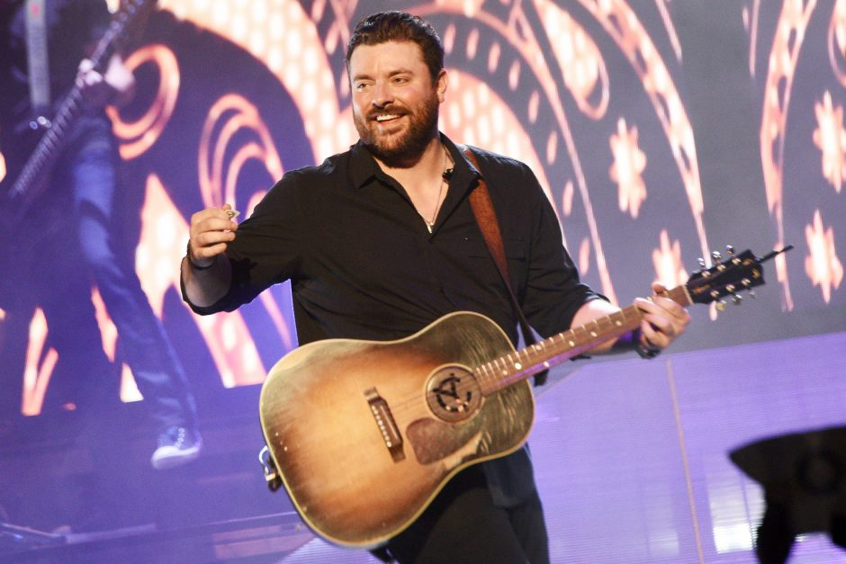 Headliner Chris Young performs on stage for LiveNation's first concert of the season Saturday night at SPAC.