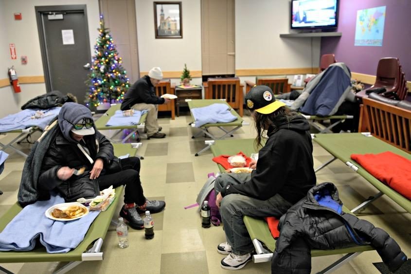 Some of Schenectady's homeless take advantage of Bethesda House.