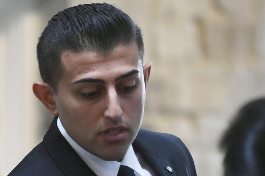 Nauman Hussain at court in April