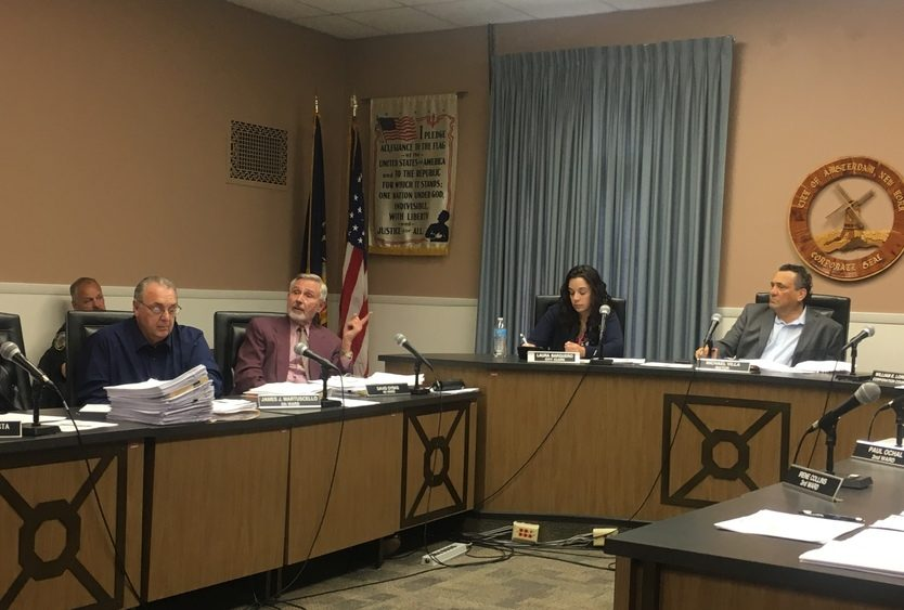 The Amsterdam Common Council discusses the city's 2019-20 budget Tuesday night.