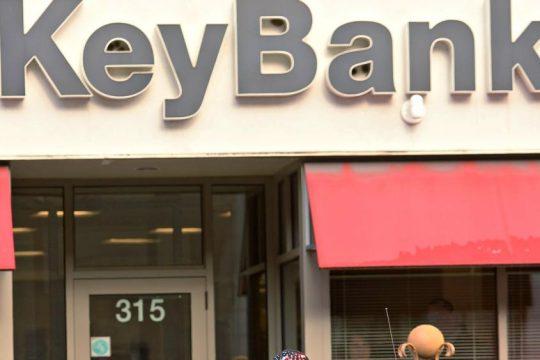 KeyBank branch on State Street near Erie Boulevard.