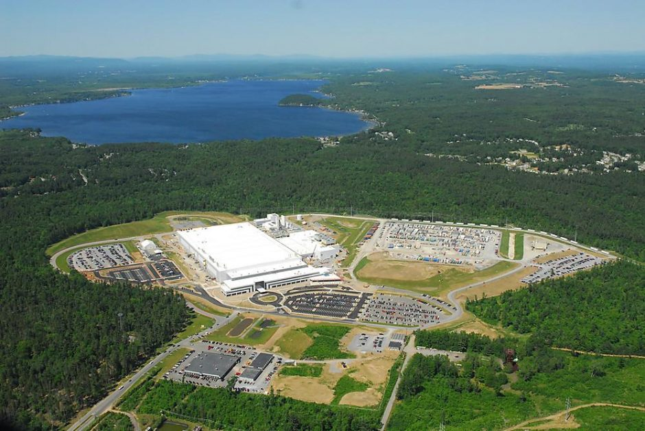 Global Foundries' Fab 8 complex in the Luther Forest Technology Park is seen from the air in January 2013.