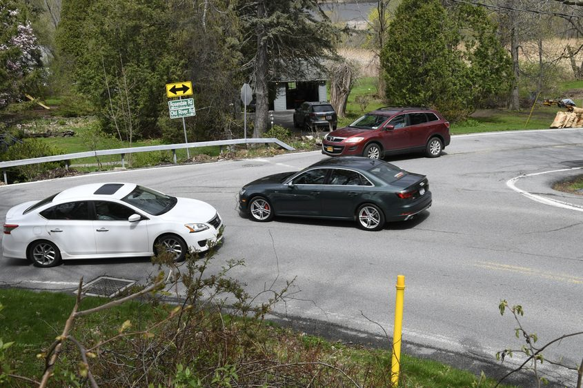 The intersection of Rosendale and Old River roads in Niskayuna is shown April 27.