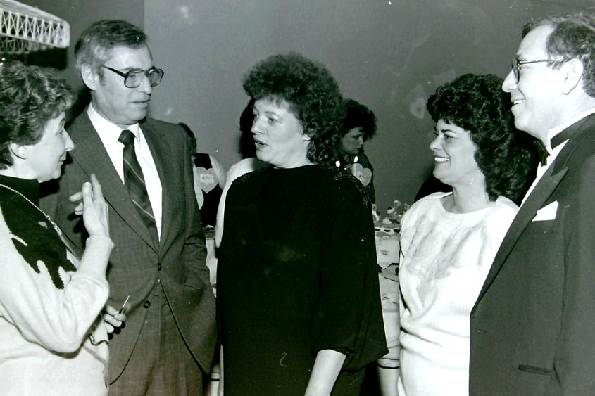 Karen Johnson, center, served as Schenectady mayor from 1984-1992.