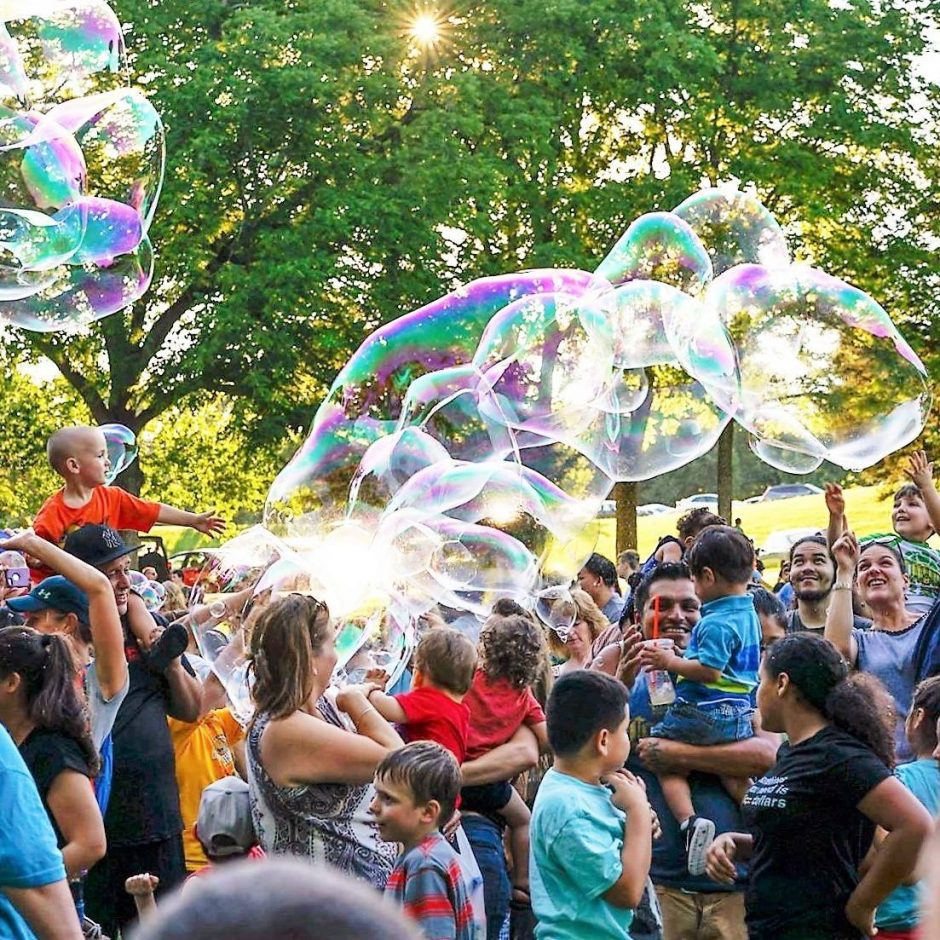 The Fantastic Bubble Festival comes to miSci from 11 a.m. to 4 p.m. on Saturday.