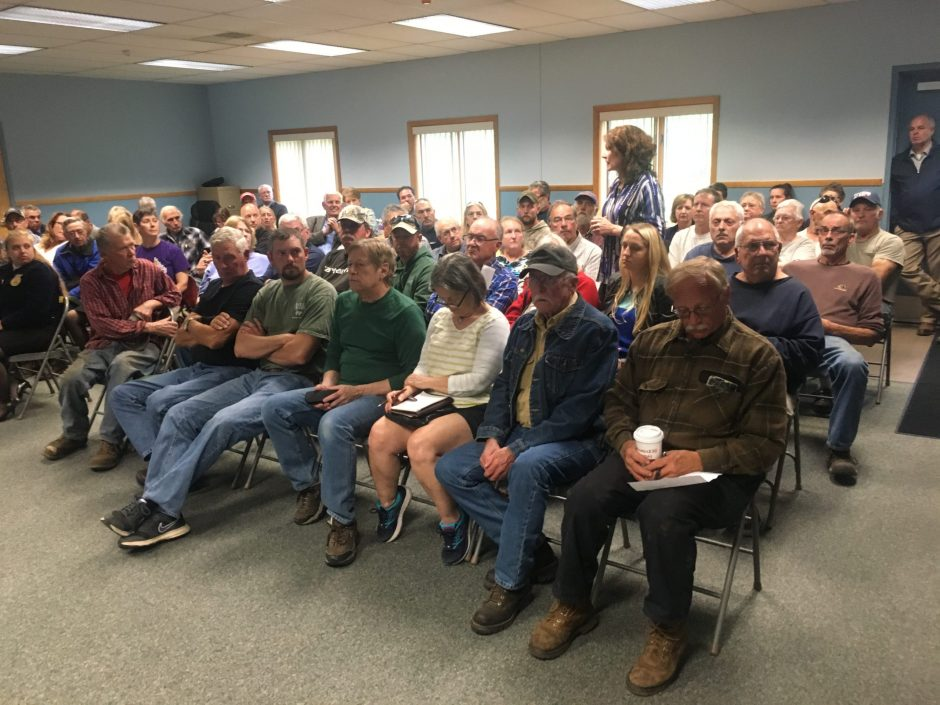 Residents attend a Fulton County Industrial Development Agency eminent domain public hearing on June 4 at Johnstown Town Hall.