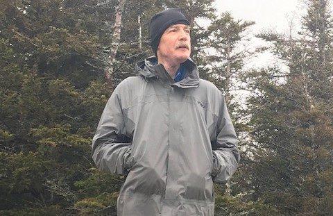 Al Mackayis shown on Willard Mountain in the White Mountains of New Hampshire.