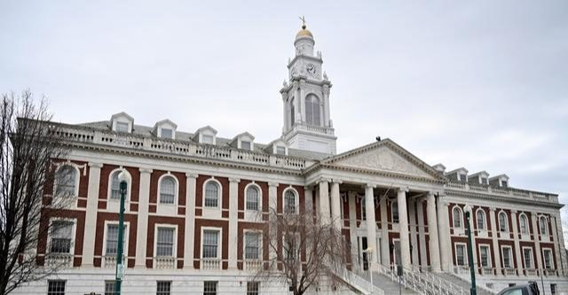 The exterior of Schenectady City Hall on Jay Street in Schenectady is shown in this photo from April.