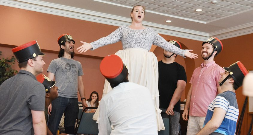 Opera Saratoga's Keely Futterer as Marie, of Miami, during rehearsal of Daughters of The Regiment