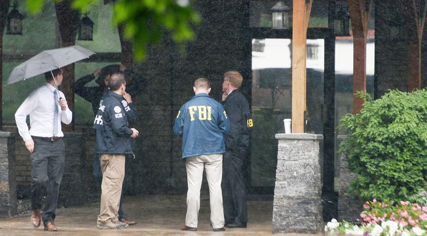 Agents from FBI, HCI, and Commerce are at Turbine Services Ltd. Tuesday