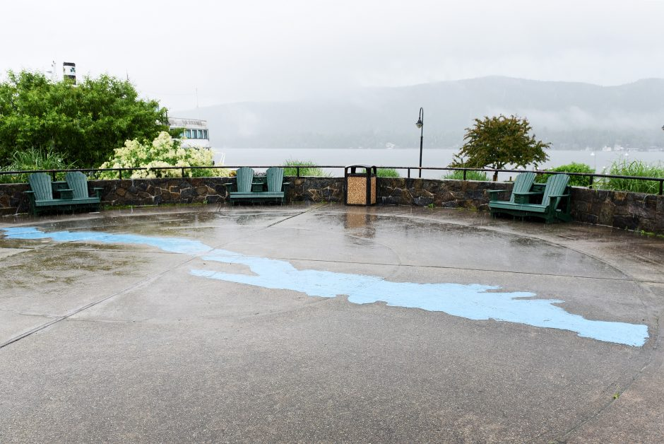"""The """"mystery spot"""" behind Lake George Visitor Center, where you can witness your voice echo back to you, June 20, 2019."""