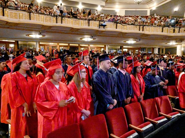 Schenectady High School held its 27th annual commencement exercises at Proctors on Wednesday morning.