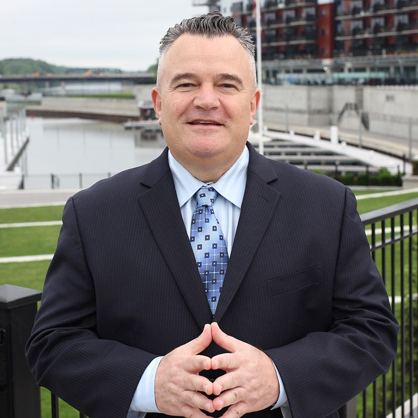 Hal Wafer poses at Mohawk Harbor in Schenectady recently. The Utica-area native will manage sports betting for Rivers Casino.
