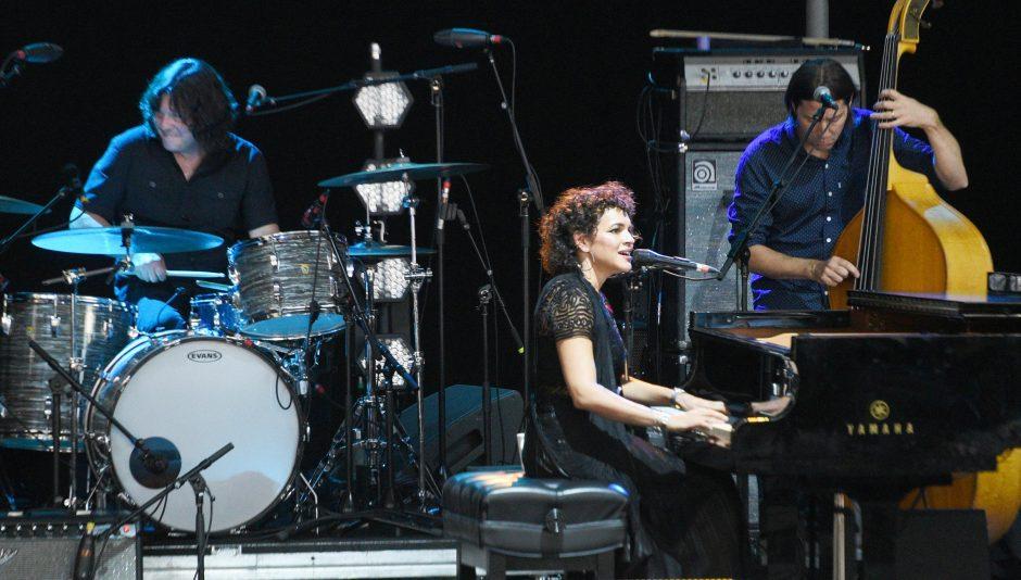 Norah Jones performs on Sunday at the 42nd Freihofer's Saratoga Jazz Festival.