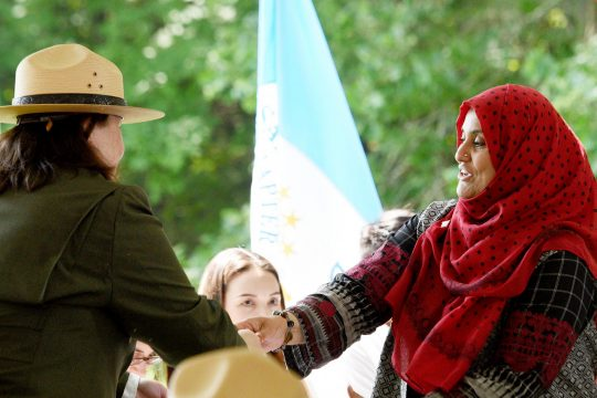 The 16th annual Citizenship Ceremony at Saratoga National Historical Park visitors center in Stillwater on Thursday.