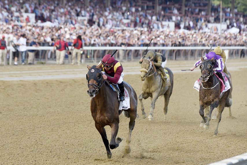 Catholic Boy wins the 2018 Travers at Saratoga. He returns to dirt in the Suburban on a big stakes card at Belmont Saturday.