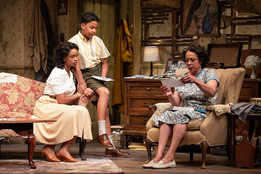 "Mandi Masden, Owen Tabaka, and S. Epatha Merkerson in ""A Raisin in the Sun."""