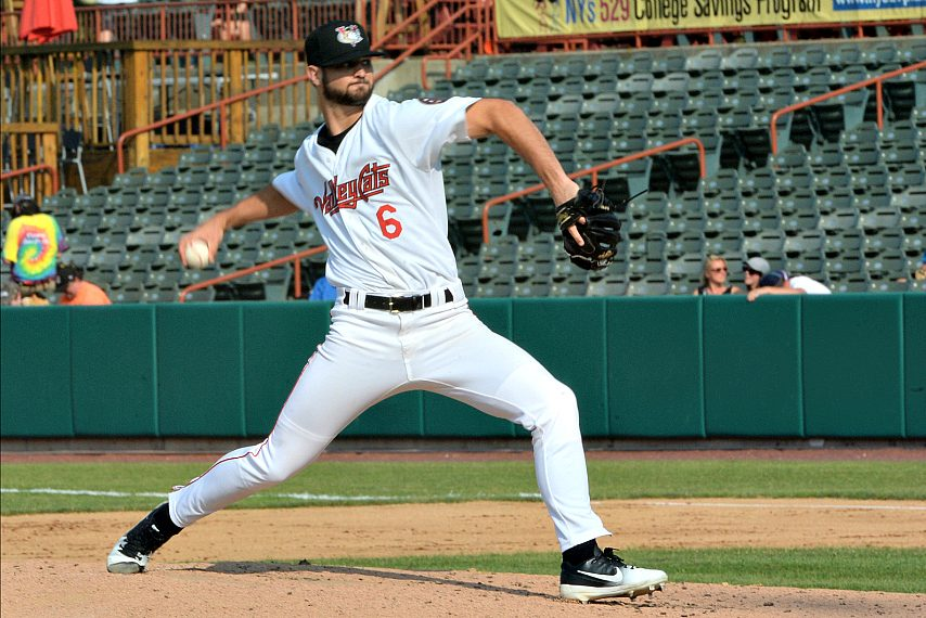 Blair Henley made his ValleyCats debut in Sunday's loss.