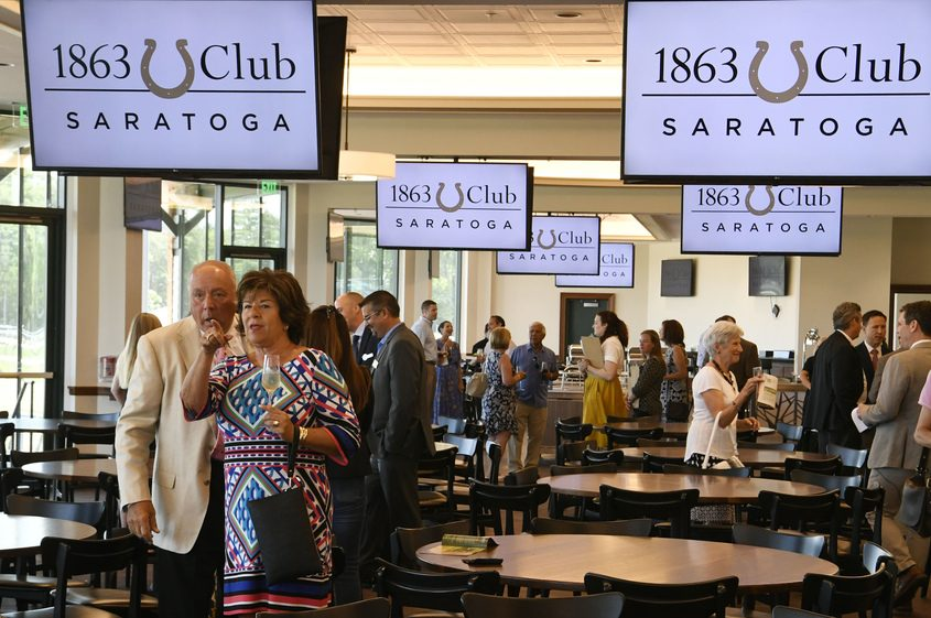 The new 1863 Club Saratoga, which will officially open later this week, is pictured on Tuesday.