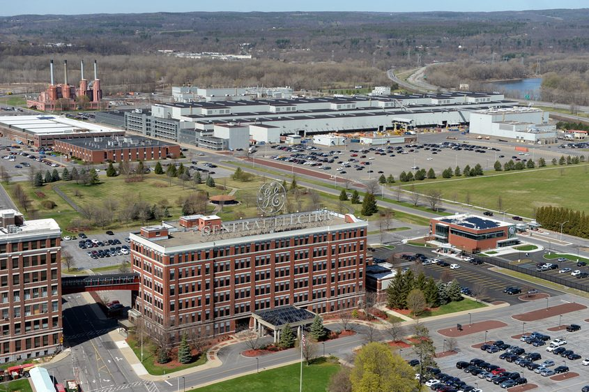 General Electric's Schenectady campus is shown in 2016.
