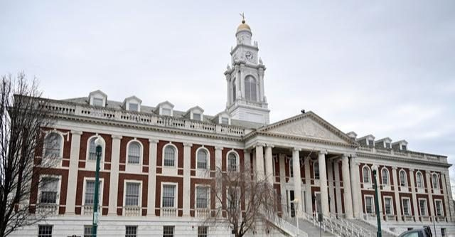 Schenectady City Hall in April