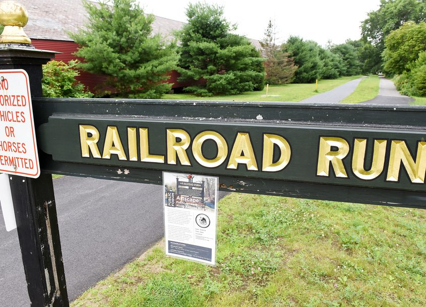 The Railroad Run Trail in Saratoga Springs on Thursday.