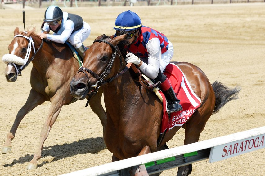 Guarana and Jose Ortiz hold off Point of Honor in the CCA Oaks
