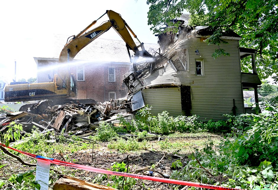 The house at 792 Francis Ave. in Schenectady was demolished on Tuesday afternoon.