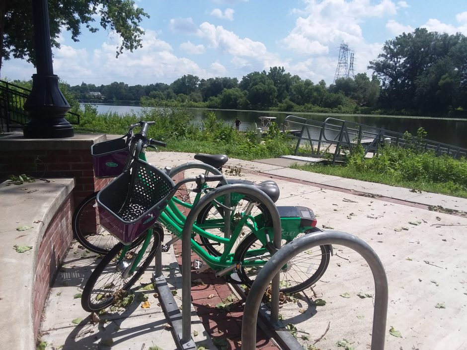Regional bike-share bicycles are now available at the Freedom Park docks in Scotia.